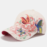 Women Sunscreen Sun Hat Fashion Butterfly Embroidery Duck Hat Baseball Cap