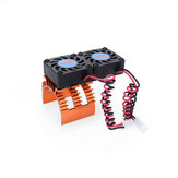 SURPASS-HOBBY 36 Series Dual Fan Motor Radiator With High Speed 2w Rotating Fan RC Car Parts