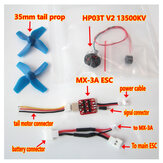 XK K110 RC Helicopter Onderdelen Brushless Tail ESC en Motor System Upgrade Kits