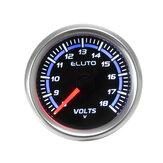 """Voltmetro universale per auto da 2 """"52 mm Volt Voltmetro Display a LED 8-18V"""