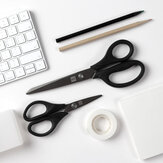 2pcs Titanium-plated Scissors Black Sharp Sets Non-slip Tools Kit