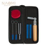 Naomi Piano Tuning Kit W / Piano Tuning Hammer Gomma Wedge Mute Gomma Mute Temperament Strip Diapason e custodia