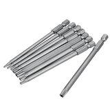 8 Stück T8-T40 100 mm magnetische Torx-Schraubendreher-Bits Set 1/4 Zoll Sechskant-Schraubendreher-Bits