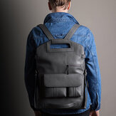 Ekphero Men Handbag Casual Multifunction Backpack Solid Crossbody Bag
