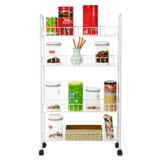 ホイール付き4層可動式収納ラック冷蔵庫ギャップカートマルチピーアプリケーション用のスペース節約