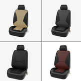 1X Universal Coche Fundas de asiento Asiento delantero Fundas de cuero sintético PU Costuras de cojín
