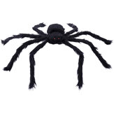 230CM Halloween Giant Spider Black Soft Hairy Scary Spider Toy for Outdoor Yard & Indoor Decoration