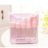 7 sztuk / zestaw Travel Mini Makeup Cosmetic Face Cream Pot Butelki Plastikowe przezroczyste puste cienie do powiek Makijaż Pojemnik na butelki