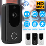 Smart 1080P HD Nirkabel WiFi Video Bel Intercom Keamanan Telepon Night Vision