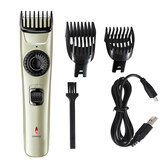 USB Rechargeable Electric Hair Clipper Trimmer Shaver Waterproof Adjustable Limit Comb