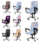 [M Size] Elastic Office Chair Cover Computer Rotating Chair Protector Stretch Armchair Seat Slipcover Home Office Furniture Decoration
