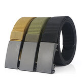 TUSHI Men's Automatic Buckle Nylon Ceinture Simple Belt