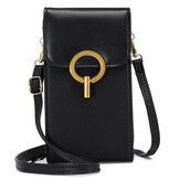 OB OURBAG Fashion Casual Large Capacity Zipper PU Leather Mobile Phone Bag Storage Crossbody Bag Shoulder Bag