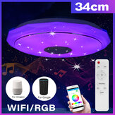 Bluetooth WIFI LED Luz de teto 256 RGB Music Speeker Lâmpada regulável APP remoto
