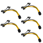 5Pcs PCI-E 6-pin To 2x 6+2-pin Power Splitter Cable PCIE PCI Express