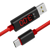 Bakeey 3A Type C Digital Voltage Current LED Display Fast Charging Data Cable 1.2M For Xiaomi 8 S9