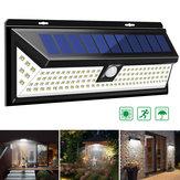 118 LED Lampe solaire pour jardin extérieur cour étanche PIR Détecteur de mouvement