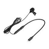 BOYA BY-M2 Kardioid Yaka Yaka Klipsli Mikrofon iOS Akıllı Telefonlar için 3,5 mm TRS - Lightning Kablosu ile Ayrılabilir Tekli Başlık