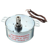 4Pcs AC 220-240V Turntable Synchronous Motor 15/18r/min 3.5/3W CW