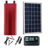 30W 18V PET Solar Pannel Kit Solar Güç Paneli Batarya Solar 2000W Güç Çeviricili Şarj Kontrol Cihazı