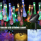 32FT 10M 100LED Solar Water Drop Fairy String Light al aire libre Garden Party Christmas Lawn Lámpara Decoración