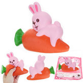 YunXin Squishy Rabbit Bunny Holding Wortel 13cm Slow Rising With Packaging Collection Decor Toy