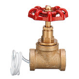 Vintage Steampunk 1/2 Inch Red Handle Stop Valve Light Switch With Wire For Water Pipe Lamp