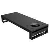 ABS Laptop Stand com Porta de Carregamento USB 3.0 Carregador Sem Fio Para Laptop PC Monitor Aumentar Organizador de Mesa