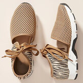 Women Cutout Mesh Breathable Lace Up Casual Sports Sandals
