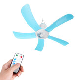 Portable 5 Blades Mini Ceiling Fan W/ Remote Control Hanging Summer Cooler Gift
