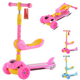 3-in-1 Foldable Kick Kids Scooter Toddler 3 Wheel Boys Girls Foot Scoot Balance Bike
