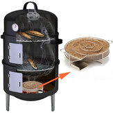 Hot Cold Smoke Generator Round BBQ Grill Wood Chip Dust Cooking Sawdust Smoked Meat Camping Picnic