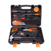 19 in 1 Precision Hardware Kit Household Hand Tool Set Screwdriver Wrench Hammer Plier Auto Repair Woodwork Tool