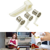 Kitchen Speed Grater Slicer Rotary Hand Cheese Stainless Steel Blades Handheld Camping Picnic Tool