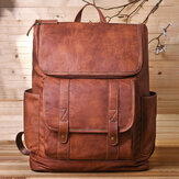 Men Vintage Multi-pocket Anti-theft 15.6 Inch Laptop Backpack