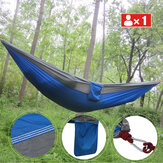 Single People Hanging Swing Bed Camping Hammock Outdoor Garden Travel with Storage Bag Carabiner Max Load 300kg
