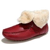 Winterfellfutter Warm halten Casaul Cotton Ankle Snow Stiefel