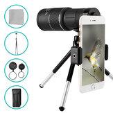 Портативный телескоп и адаптер для мобильного телефона OUTERDO 10x40 High Optical Monocular Водонепроницаемы Штатив
