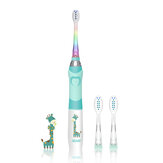 SEAGO SG-977 Kids Sonic Electric Toothbrush Soft Bristles IPX7 Waterproof Sonic Vibrating Teeth Cleaner For Child W/ Colorful Lights