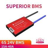 DALY BMS 6S 24V 15A 20A 30A 40A Bateria Sistema de gerenciamento PCM PCBA 18650 Acessórios para 18650 íon de lítio Bateria Pacote com equilíbrio