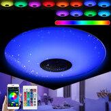 E27 45W RGB Akıllı LED Lamba Ampul Müzik bluetooth APP Hoparlör Kolye Tavan Lamba + Uzakdan Kumanda AC85-265V