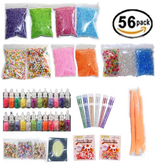 Glitter Pearls Slime Fishbowl Beads Mylar Flake Slime Make Your Own Kids Gloop Tools