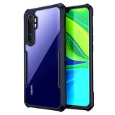 Bakeey for Xiaomi Mi Note 10 Lite Case Armor Shockproof Anti-Fingerprint Transparent Hard Acrylic & Soft TPU Edge Protective Case Non-original
