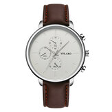Original              YOLAKO Casual Style Leather Strap Fahsion Men Business Watch Quartz Watch