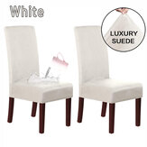 2X Waterproof Micro Suede Stretch Chair Cover Dining Chair Protective