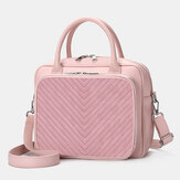 Women Designer Striped Laptop Bag Crossbody Bag Handbag