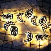1.65M Battery Operated Eid Ramadan Moon LED String Light Islam Indoor Party Holiday Home Decor