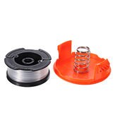 1 + 2 30ft Trimmer Line Reemplazo String Trimmer Spool Cap Cover Spring Para Black y Decker String Trimmers