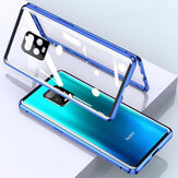 Bakeey for Xiaomi Redmi Note 9S / Redmi Note 9 Pro Caso 2 em 1 com lente Protector Magnetic Flip Double-Side Glass Metal Cover Full Cover Protective Caso Non-original