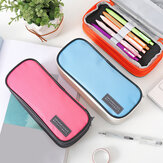 Three Layers Zipper Pencil Case Large Capacity Waterproof School Pen Case Supplies Pouch Stationery Students Supplies
